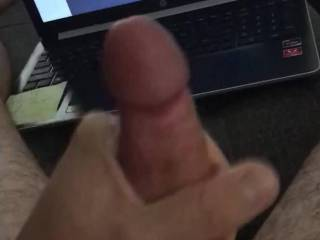 Tribute cumshot to one of my favs