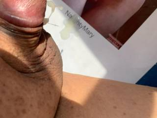 Promised a cum trib for Naughtymary.  Had a good cum for her.  Still dripping.