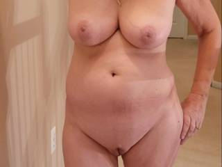 Wife naked in hallway