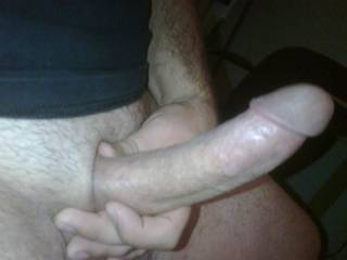 I wish i could and then id guide it into my wife and watch you dump a fucking huge load of cum in her for my enjoyment and then I clean you both