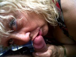 YUM YUM! my horny greedy hot girl girl doin what she loves best! sucking my big thick cock! any horny woman wanna cum join us for 3some fun! x x x doesnt she look horny!