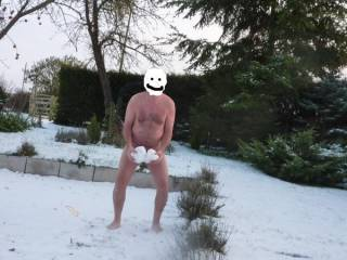 Nakedness makes your skin tingle. Sent it to my girlfriend as I was joking there was not enough to make a snowman just some snowballs - you can guess the rest.