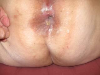 ass full of cumm