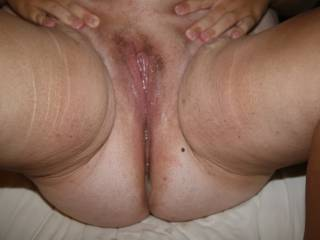 Ooohhh yesssssssss, mind if I go next...sloppy seconds are just so incredibly mind blowing hot...and then give that gorgeous wet creamy pussy an unforgettable erotic licking!