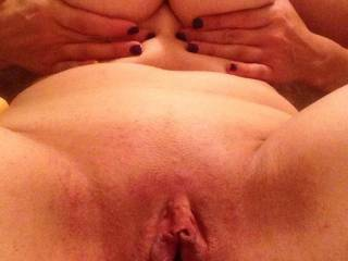 What do u want to play with first: my tits or my pussy, hmm?