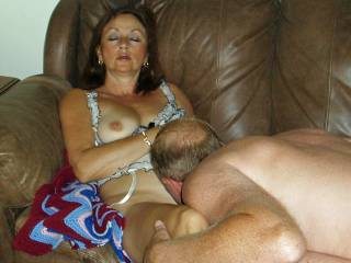 Candi Annie lays back and enjoys getting her pussy licked!