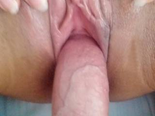 Having sex with with a very wet pussy and exposed hard horny clit
