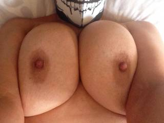 View from on top of my wife, love those big titties