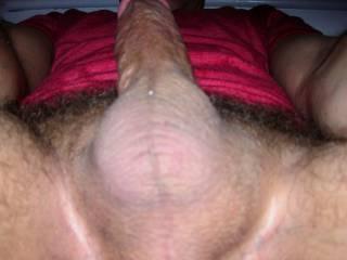 The night before this shot was taken i had a threesome with a woman i had dated and her fiancee. She told me he was bicurious and he wanted to see my hard cock inside of her wet pussy. After i came inside of her he cleaned us both up.