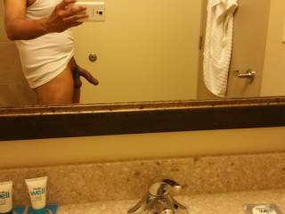 Quick pic before fucking a wife in  a hotel paid for by her cuck hubby