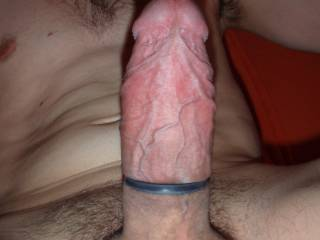 My hard cock with ring