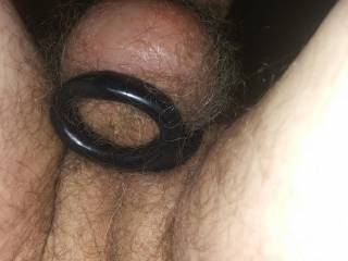 I love having a cock ring below my balls when I\'m edging