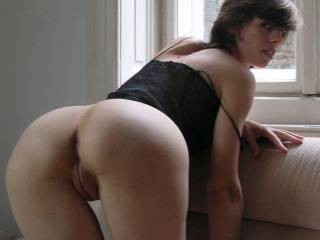 May i lick you  from behind till your cum dribbles down your inner thighs first? Then clean you up with my tongue before sliding my throbbing cock bollock deep inside you? xxxxx