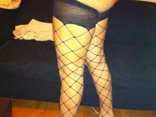 so hot, love to start with your pretty little toes, licking my way up those sexy fishnet covered legs of yours to your tight, tasty pussy!