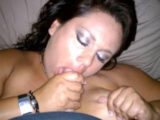 milf enjoying my younger big dick