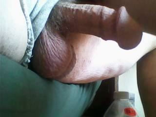 Love hanging balls with a hard cock, yum!