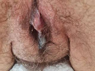 My friend visited. He pleasured my body with oils then slid his very appreciative rigid cock inside me and deposited this huge thick load deep in me. Would you do the same for me?