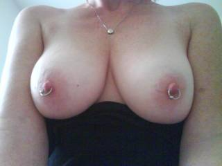 I love how sensitive her nipples are....she can cum just from having them touched and sucked!