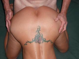 Our swinger friend fucks me with his lovely extra thick cock at the last party.  He loves the shape of my ass and so he likes to take me from the rear.