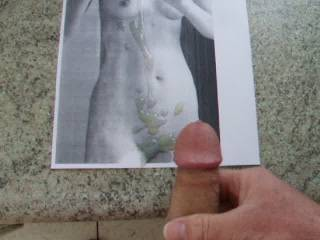 Was a good idea :) If you get horny the next time you may print out one of my pics :))