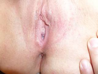 Pussy Fucked and spread open