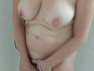 Mrs Ikpm\'s beautiful breasts on display for me in the shower before a night on the town.