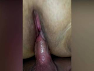 Great undershot of her getting fingered and fucked.  Notice the wet pussy and cock?
