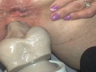 ass spread setting on a 12 inch thick cock