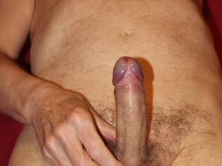 My penis is well lubed and I am holding it in position so you can lower down onto 'Him' now. I can't wait to feel 'Him' being engulfed by the walls of your vagina.