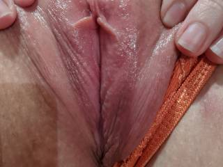 I had just finished licking and sucking her to a beautiful orgasm. Her clit is amazing!