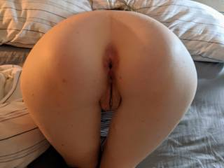 Bent over and ready for cock