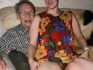 Giving a 91y old man a b day present no pantys