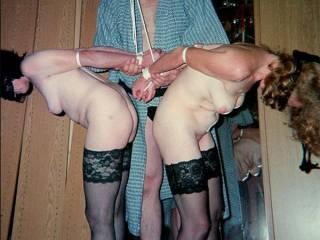 One Master and two bound nude femslaves. 3 is a good number.. - Aller guten Dinge sind drei