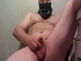 Me wanking off my small cock