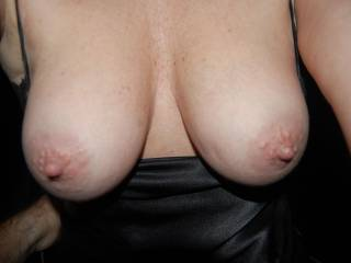 Oh my God! such perfect and gorgeous breast my dear. imagine those big toys over my face while you sitting on my big swollen dick.mmmm would be suchgreat fun when ur hubby joins us and takes you for some doggy right?