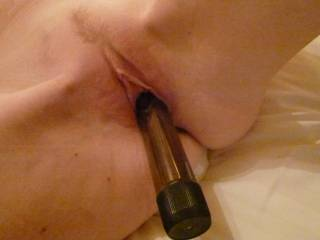 playing with my vibrator in my wet pussy
