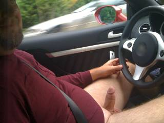 I hope so, GF snapped this pic. I love when we are driving and she is playing with my dick. We get some great looks from passersby.