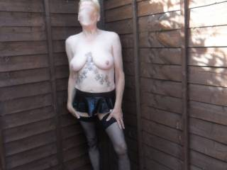 Hi all do you think this skirt is a little too short. comments very welcome mature couple