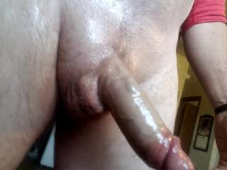 Love the feeling of stroking when cock is oil slick