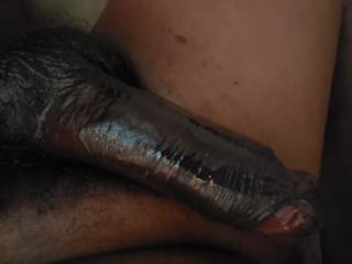 Shiny black cock for you