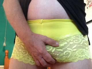 So good to spend a day wearing French knickers and stockings