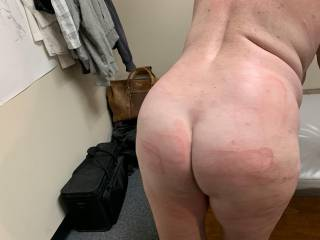 A night of ass fucking and getting beat with my leather, i know i came a dozen times. I love carrying these marks around a few days.