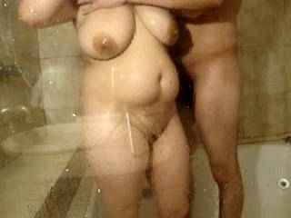 My sexy bbw girl takes a shower. If you liked our video, leave your comment :P