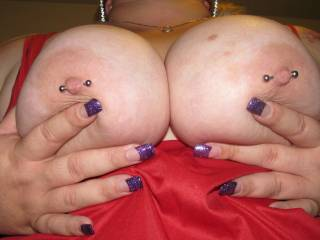 i love a big pair of pierced tits