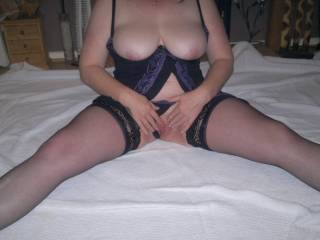 Spreading my pussy ready for some action tell me what you would do?