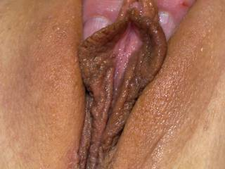 A 22 year old super-slut my well-hung buddy and I did a threesome with a while back. She didn\'t even flinch when he slid his super thick cock into her ass! And I did my first, and so far only, DP!