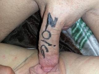 Hold it just like that, let me cover you both with my mouth licking and sucking as you both cum hard, got me hard thinking about it