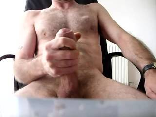 wanking my cock for a female friend I shot my load for her and she loved it
