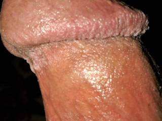 close up of my cock head to you