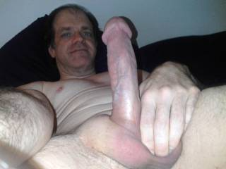Showing my cock and face